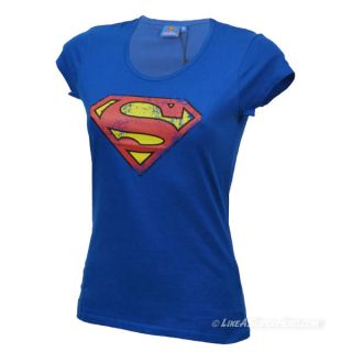 T-shirt Femme Superman Distressed Logo