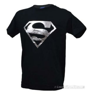 T-shirt Superman Silver Foil Logo