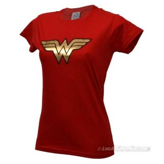T-shirt Wonder Woman Logo Rouge