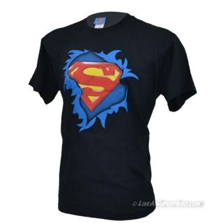 T-Shirt Superman Torn Logo