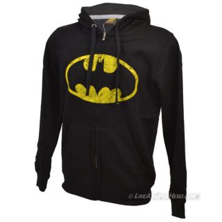 Sweat Zippé Batman Distressed Logo