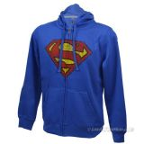Sweat Zippé Superman Distressed Logo
